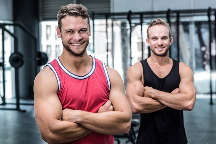 two guys in the gym